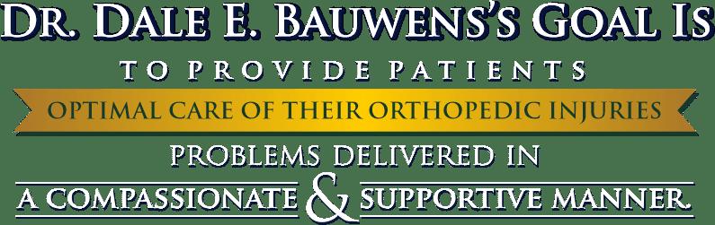 Dr. Dale Bauwens Goals Image